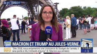"""Trump invente """"des milliers de gens"""" au pied de la Tour Eiffel"""
