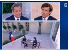 Pujadas, Sarkozy, split screen