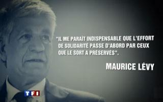 Maurice Lévy à la Une