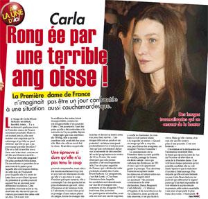 Si même Carla Bruni est angoissée par ce qu'elle voit sur TF1...