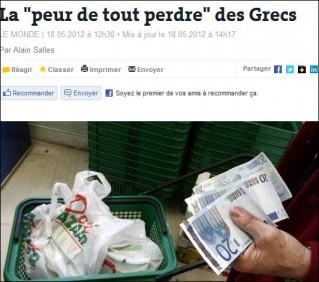 Le Monde bank run