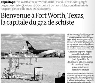 Gaz de schiste - Le Monde - 25 juillet 2012