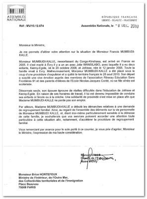 modele de lettre de parrainage On S'Bouge » Archives du Blog » Sans papiers – Francis Mumbudi, le  modele de lettre de parrainage