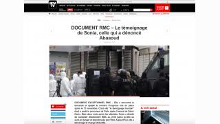 Attentats/'Sonia' : pressions de l'Etat sur BFM / RMC
