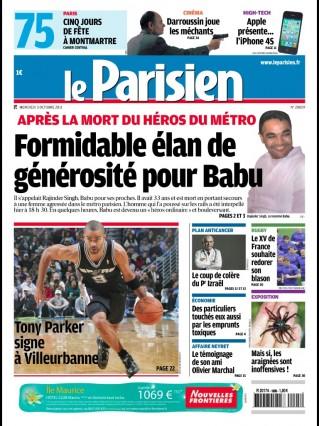 Babu h ros ordinaire toujours la une le parisien arr t sur - Le journal de la une ...