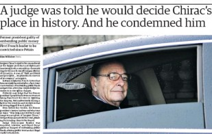 Chirac condamné - Guardian - 16/12/11
