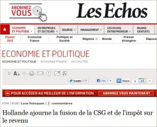 Les Echos Hollande