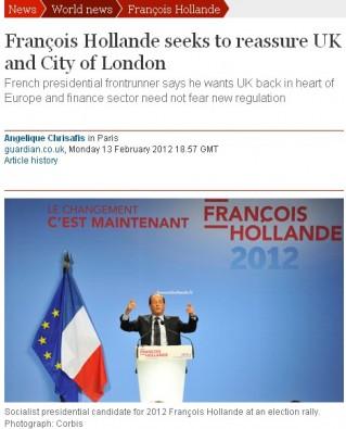 Hollande - The Guardian - 14/02/12