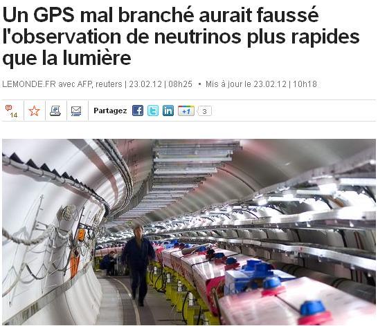 Neutrinos pas plus rapides que la lumi re arr t sur images - Plus rapide que la lumiere ...