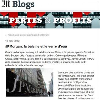 JPMorgan blog le Monde