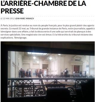 Les renseignements en planque au tribunal de paris un - Chambre des huissiers de justice de paris ...