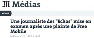 LeMonde, Free, diffamation