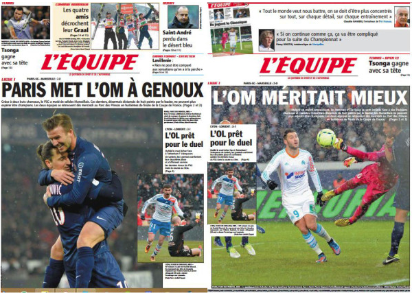 Double une journal l'equipe