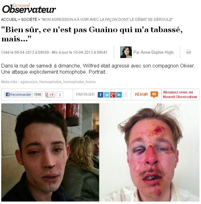 Gut gemocht Guaino/agression homophobe : L'Obs change son titre - Arrêt sur images IY23