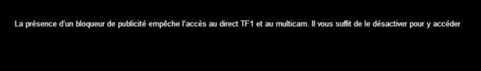 My TF1 bloque