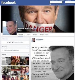Page Facebook de l'acteur