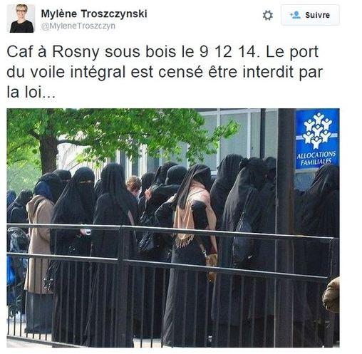 voile Marine Le Pen excuse le photomontage d'une eurodéputée FN Arr u00eat sur images # Caf Rosny Sous Bois Horaires