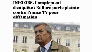 Bolloré : nouvelle offensive judiciaire contre France 2