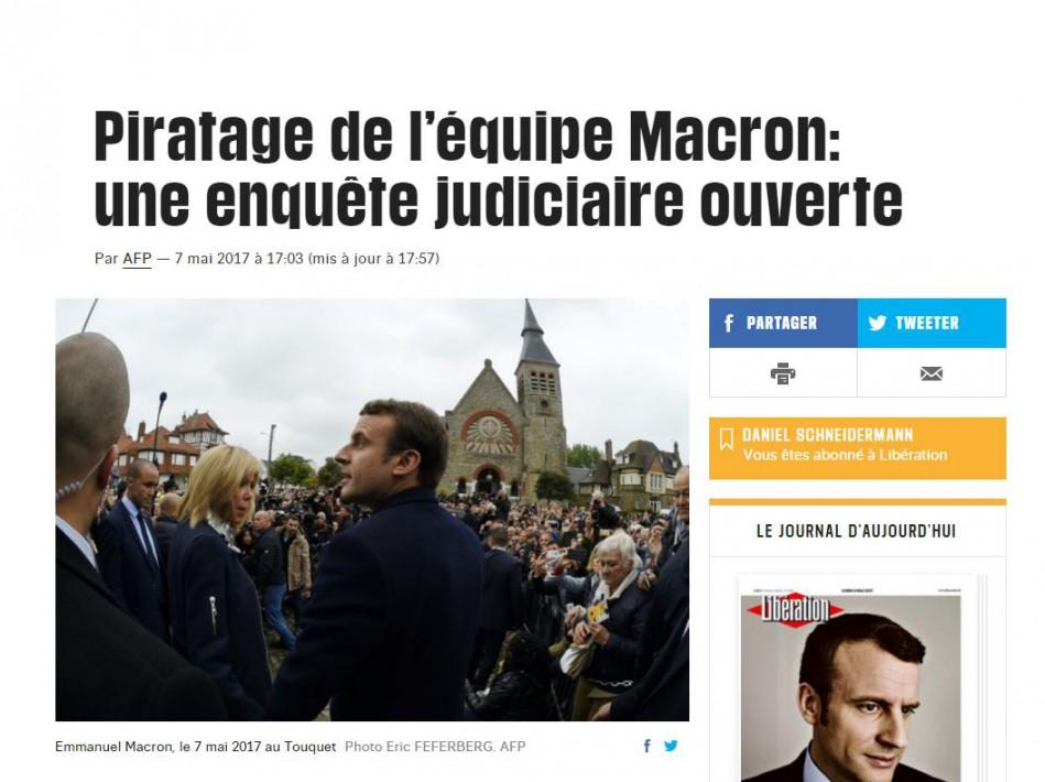 Un piratage massif touche la campagne Macron — Présidentielle en France