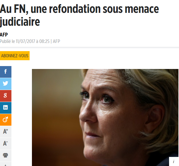 La grosse mise au point de Marine Le Pen — Tensions au FN