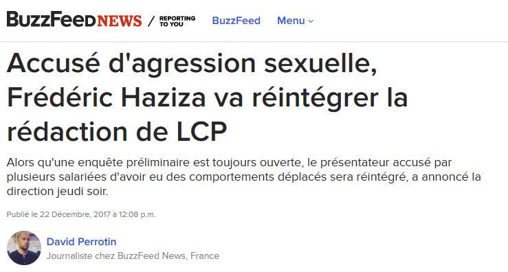 Scandale à LCP après la décision de réintégrer Haziza, accusé d'agression sexuelle