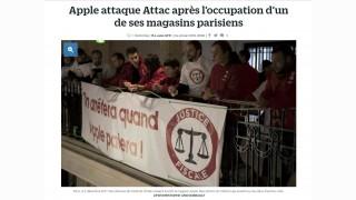 Actions dans les magasins : Apple assigne Attac