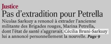 Le Monde - Cécilia Bruni-Sarkozy
