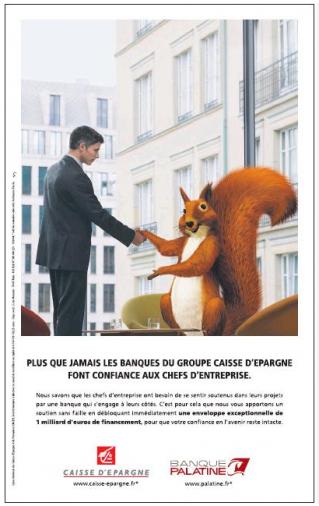"""Top La """"confiance"""" de la Caisse d'Epargne - Arrêt sur images RP85"""