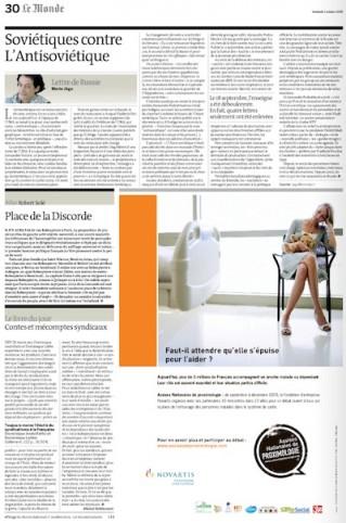 Le Monde, 2 octobre