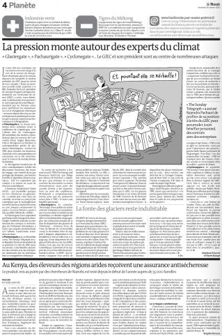 Le Monde, Giec