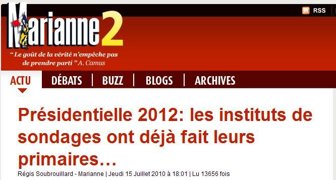 Arrêt sur images - Sondages 2012 : tester Mélenchon et Villepin ? (